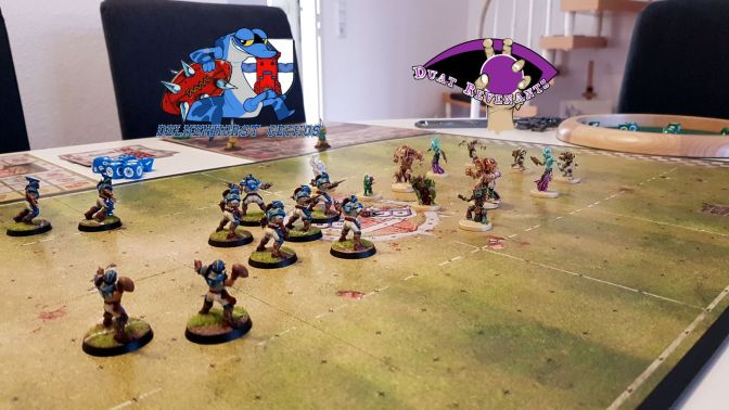 Blood Bowl: Duat Revenants gegen Delmenhorst Geckos
