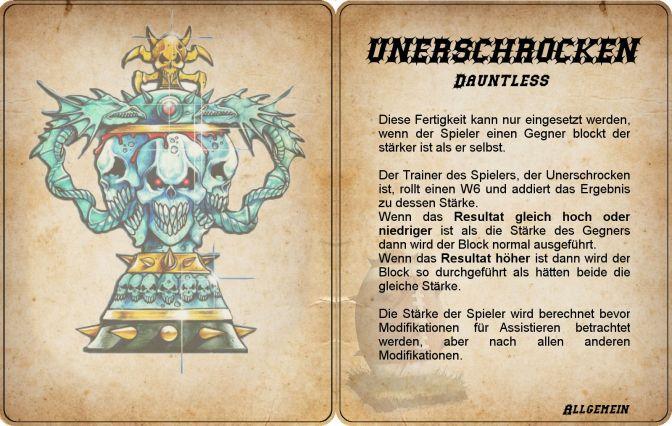 Fertigkeiten-Karten für Blood Bowl (deutsch)